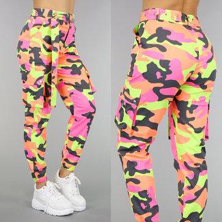 Tough Neon Camouflage Hose mit Gürtel