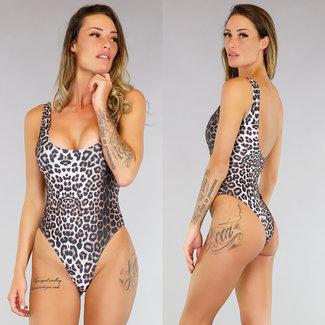 Trendy Leopard-Druck-Badeanzug