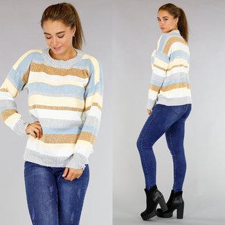 Leichte Strick gestreifte Pullover
