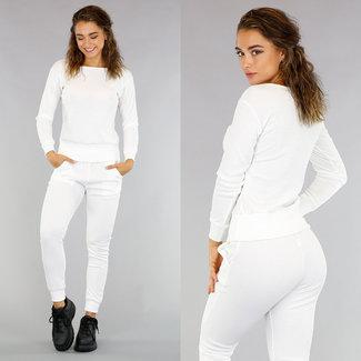!OP=OP Casual Weiß Rib 2-teilig / Huispak mit Pullover