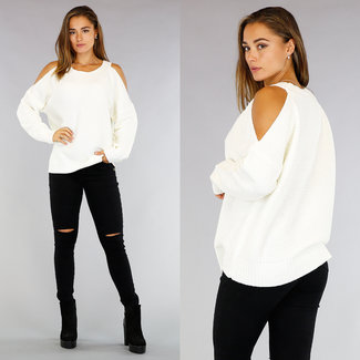 Off-White gestrickten Pullover öffnen Schultern