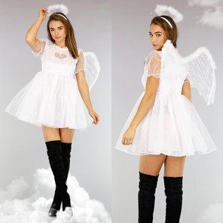 Weiß Süße Engels-Kostüm