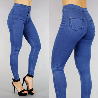 Basic Blue High Waist Jeans Jegging