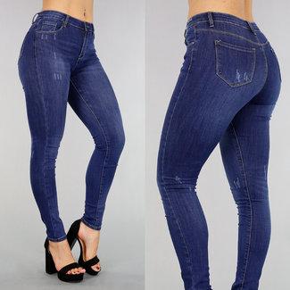 Dark Blue High Waist Jeans Wassing