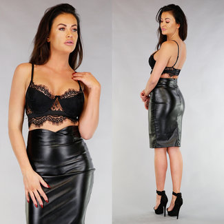 Black Lace Bralette mit Brackets