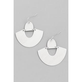 Grafik-Silber-Ohrringe