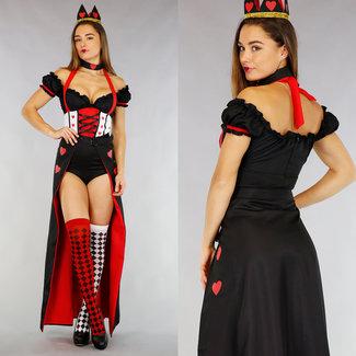Königin der Herzen Body Suit mit Zubehör