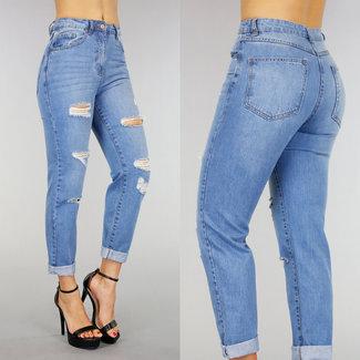 !OP=OP Vintage Boyfriend-Jeans mit Löchern und Rissen