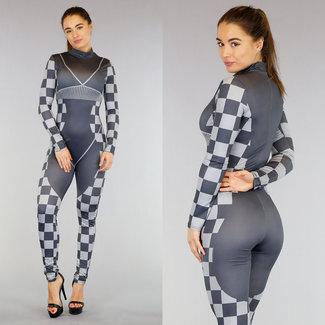 Grau Racer Slutty Kostüm