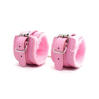 NEW0403 Rosa Dreiteilige Wrist / Fußfesseln