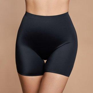 Nahtlose korrigierende Hose mit hoher Taille in Schwarz