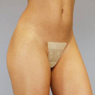 Laten Staan Invisible Adhesive Nude Spitzen-Tanga