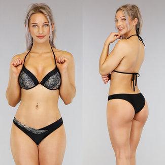 Black Snake Push-Up Halter-Bikini