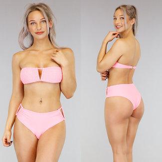 !SALE70 Rosa mit hohen Taille V-Form-Bikini