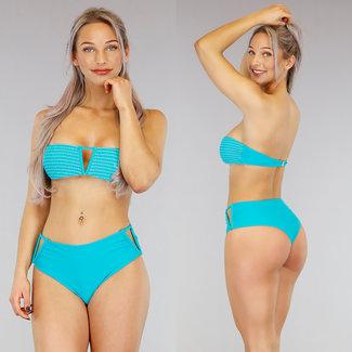 Meergrün mit hohen Taille V-Form-Bikini