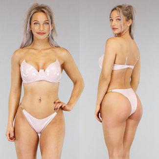 !OP=OP PVC Nude Bikini mit See-Through-Trägern