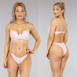PVC Nude Bikini mit See-Through-Trägern