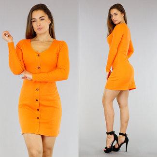 Orange Rib Kleid Sierk öffnen