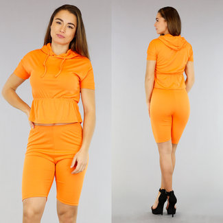 Orange 2-teilig mit Wielrenner broekje