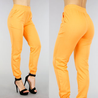 Orange Stretch Haremshosen