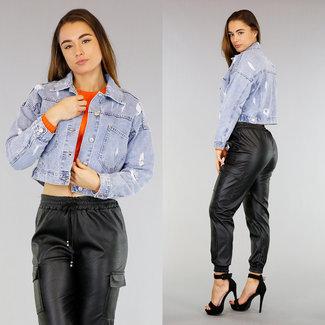 Loose-Fit Jeans mit Rissen und Wassing