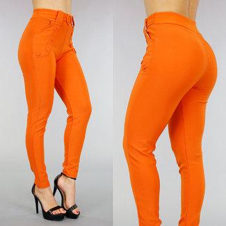 Hose mit Gummizug orange Sierk öffnen und Buckle