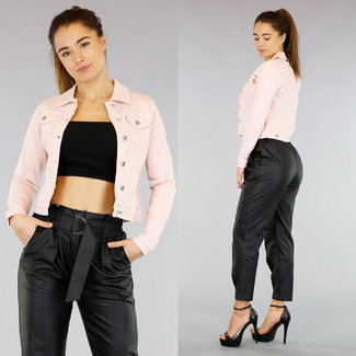Rosa Jeans-Jacke
