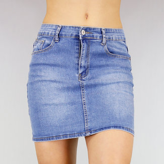 Basic-Jeans-Rock mit Stretch