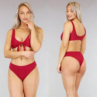 !OP=OP Grund Wine Red Bikini mit Spitze
