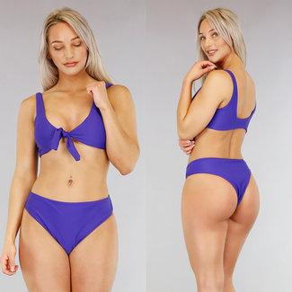 Basic Blue Bikini mit Spitze