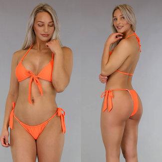 Orange Triangel-Bikini mit Bögen