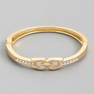 NEW1803 Goldarmband mit Switch und Steine