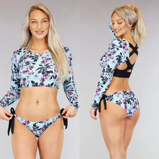 Sportlich Bikini Surf Langarm