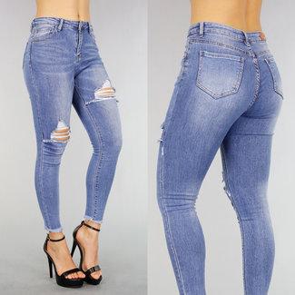 Gewaschene Blue Jeans Old Blick