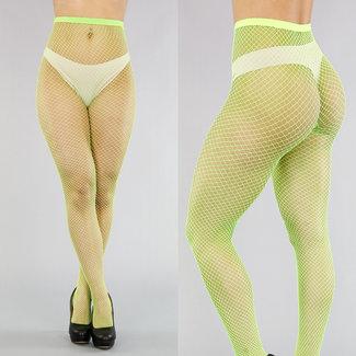 Netzstrumpfhose Neon-Grün