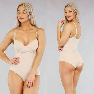 NEW2503 Korrektive Nude Silk Body mit Brackets