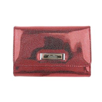 NEW0104 Metallic Glitter Wallet Red
