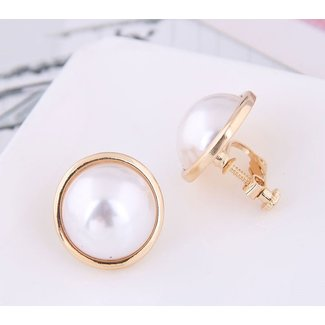 Goldene Ohrclips mit Perle
