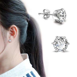 Silber-Ohrringe mit Sparkle Stein
