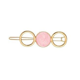 NEW0804 Goldener Hairpin mit rosaem Stein