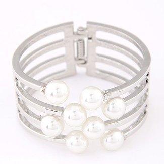 Silber-Armband mit Perlen