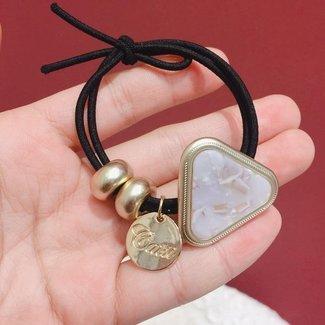 Schwarz-elastisches Armband mit Stein