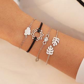 NEW0804 Set von vier silberne nette Armband