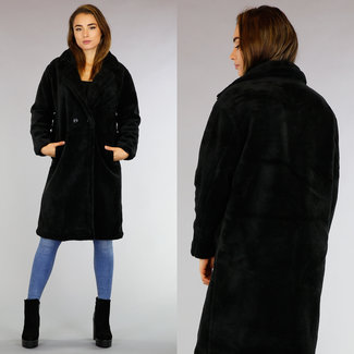 Teddy Long Black Coat