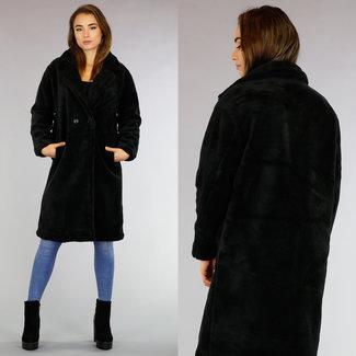 WJS Teddy Long Black Coat