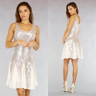 !OP=OP Champagne Glam Sequin Skater-Kleid