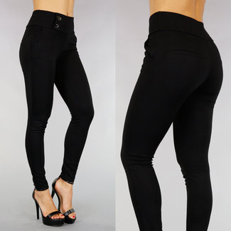 High Waist Black Stretch Tregging