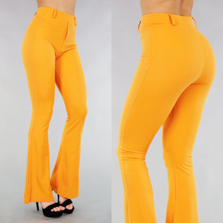 Elastische Ochre Flair Hosen