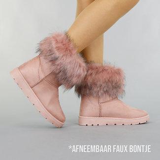 !OP=OP Rosa-Pelz-Knöchel-Schnee-Aufladungen