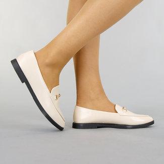 Noble Beige Lederlook Eintrag Loafers